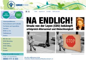 Homepage des Deutschen Kinderschutzbundes